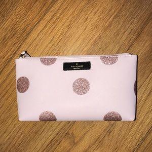 Pink & Rose Gold Kate Spade Makeup Bag